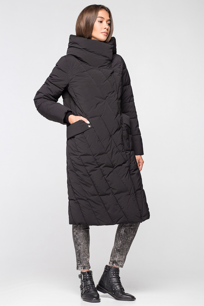 26b074a5 Длинная теплая зимняя женская куртка BTF 1886 - черная - KATTALEYA в  Харькове
