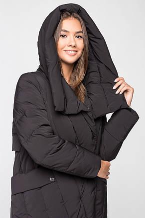 Длинная теплая зимняя женская куртка BTF 1886 - черная, фото 2