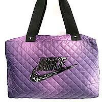 Стеганные сумки Nike (фиолетовый+черный стёганный)28*38