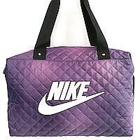 Стеганные сумки Nike (фиолетовый+белый стёганный)28*38