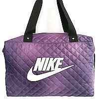 Стеганные сумки Nike (фиолетовый+белый стёганный)28*38, фото 1