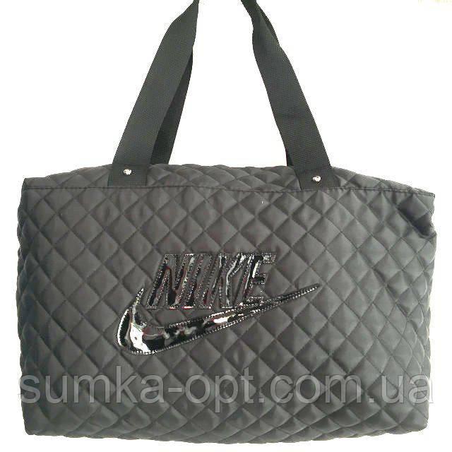 Стеганные сумки Nike (черный стёганный)28*38
