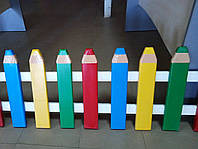 Карандаши-малыши заборчик для детской площадки