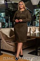 Стильное Платье прямого силуэта с длинным рукавом 52-58р