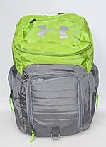 Рюкзак городской Under Armour серо-салатовый, фото 3