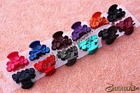 Крабы для волос; материал: пластик, длина: 4 см, разные цвета, 12 штук