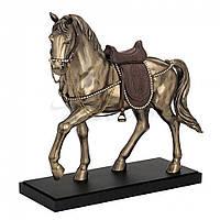 Коллекционная статуэтка Veronese Конь с седлом на подставке