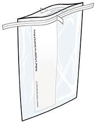 Стерильный пакет с отрывным краем и зажимом RollBag®
