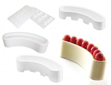 """Силиконовая форма для десертов Silikomart, (набор 3 шт) """"Kit Stella"""" Италия -04439"""