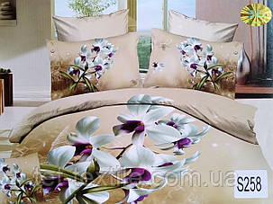 Комплект постельного белья Elway Premium 3D Сатин Евро (Подарочная упаковка), фото 2