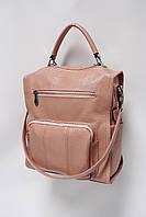 Сумка-рюкзак из искусственной кожи Galanty 10582 l.pink