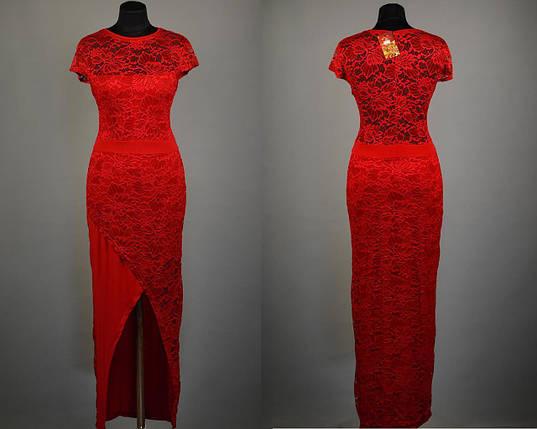 """Стильное кружевное платье в пол ткань """"Масло"""" 48, 50 размер батал, фото 2"""