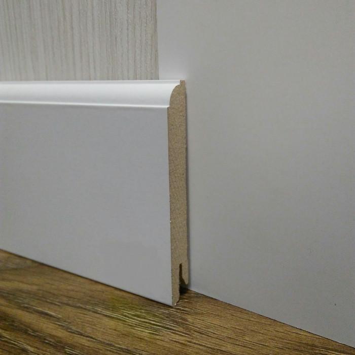 Плинтус белый напольный МДФ высокий 14.2х95х2400мм., ламинированный