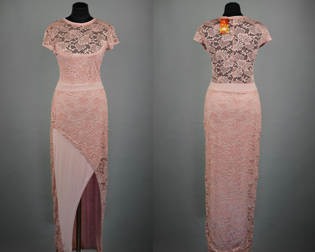 """Эффектное кружевное платье в пол ткань """"Масло"""" 50, 52, 54 размер батал"""