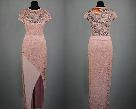 """Эффектное кружевное платье в пол ткань """"Масло"""" 50, 52, 54 размер батал, фото 2"""