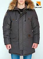 Зимняя мужская парка куртка аляска Olymp – Montana , Color: Gray