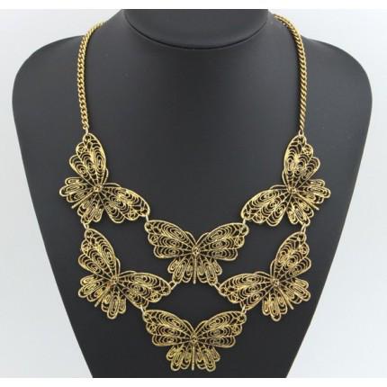 Ожерелье колье бабочки бронзовое tb1205