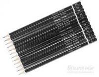 Набір олівців Skiper для креслення, 12 шт., шестигранні, різної твердості SK-9500-12
