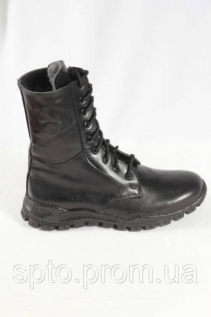 Зимние кожаные ботинки, берцы с шерстью