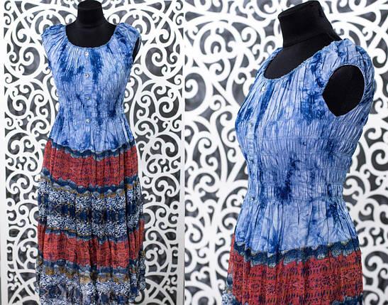 "Красивый женский сарафан, ткань ""Стрейч-коттон+Шифон на подкладке"" 50 размер батал, фото 2"