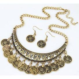 Набор Монеты ожерелье и серьги tb1197