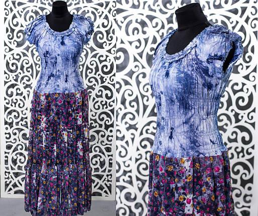 "Красивый женский сарафан, ткань ""Коттон+Шифон на подкладке"" 50, 52 размер батал, фото 2"