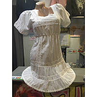 XS/42 Платье мини из хлопка белое ЛЕТО