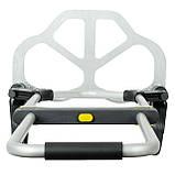 Візок ручна складна до 80 кг, 450*485*1090, колеса 170 мм, (алюмінієва) INTERTOOL LT-9010, фото 6
