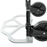 Візок ручна складна до 80 кг, 450*485*1090, колеса 170 мм, (алюмінієва) INTERTOOL LT-9010, фото 7