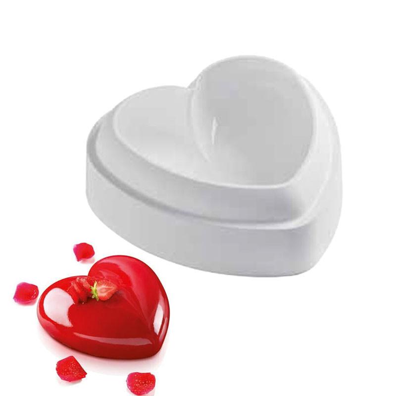 """Силиконовая форма для десертов Silikomart """"Amore"""" 142x137mm.h=50mm Италия -04435"""