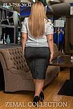 Строгая Атласная   юбка – силуэта карандаш  50-60р, фото 2