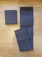 Напульсники на липучке для занятий спортом (пара 2 шт.). Синий цвет
