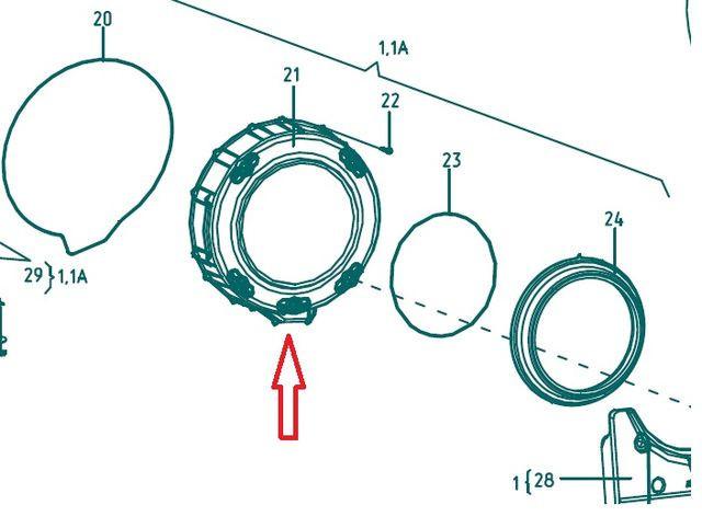 Крышка бака 772422700900 для стиральной машины Атлант