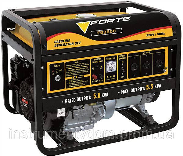 Генератор бензиновый FORTE FG3500 (2,5 кВт)