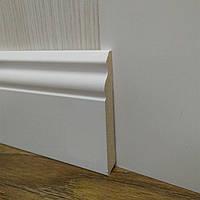 Плинтус белый напольный МДФ высокий 14,2х100х2400мм., ламинированный, фото 1