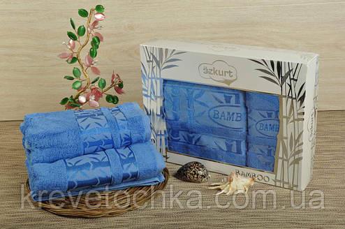 Набор полотенец бамбук Ozkurt Bamboo 50х90, 70х140 голубой, фото 2
