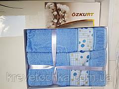 Набор полотенец бамбук Ozkurt Bamboo 50х90, 70х140 голубой, фото 3