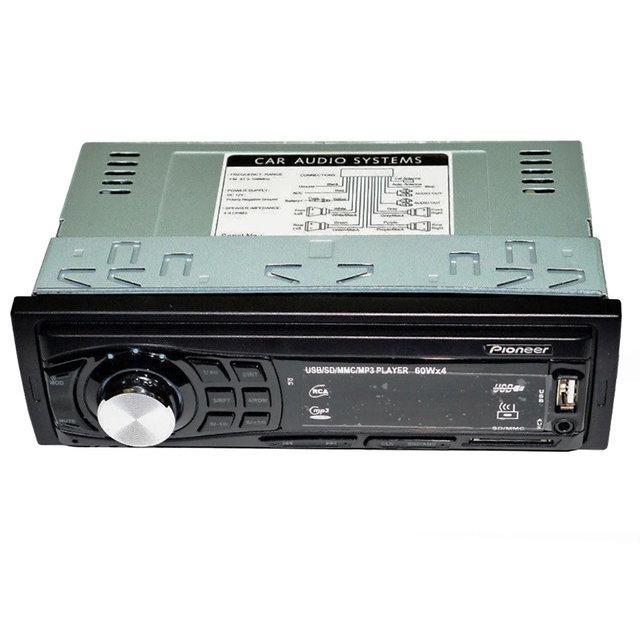 Автомагнитола с евро фишкой популярная MP3 4005U ISO с подсеткой несъемная панель