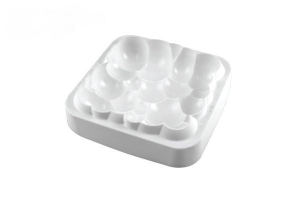 Силиконовая форма для десертов Silikomart CLOUD 200*200 .h=55mm Италия -05362