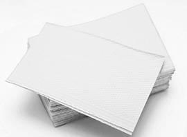 Нагрудники - салфетки 430 х 330 мм, стоматологические трехслойные текстурированные, Белые 500 шт.