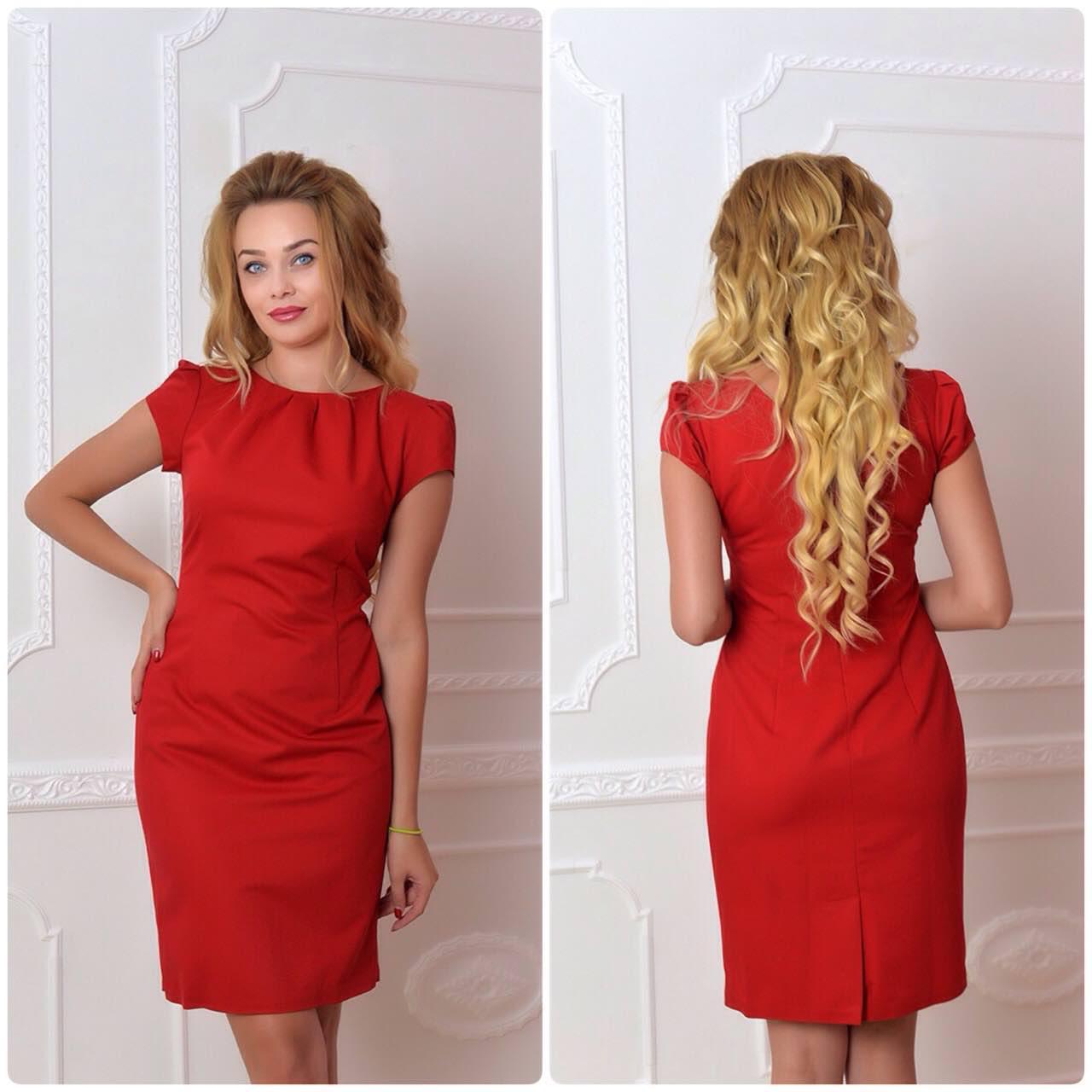 Платье арт. 716, красное