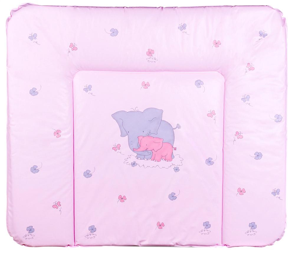 Пеленатор мягкий большой Ceba Baby  Слоники розовый