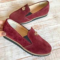 Дитячі замшеві туфлі на дівчинку 30 розміри, фото 1