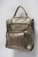 Сумка-рюкзак из искусственной кожи Galanty 10582 bronze