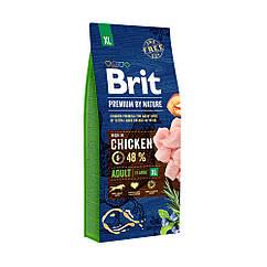 Сухой корм Brit Premium Adult XL для взрослых собак гигантских пород со вкусом курицы 3 кг