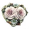 Шкатулка фарфоровая «Лиловый букет», h-5х5х4,5 см, фото 3