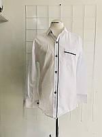 Рубашка Классика с черной строкой 9-13 лет