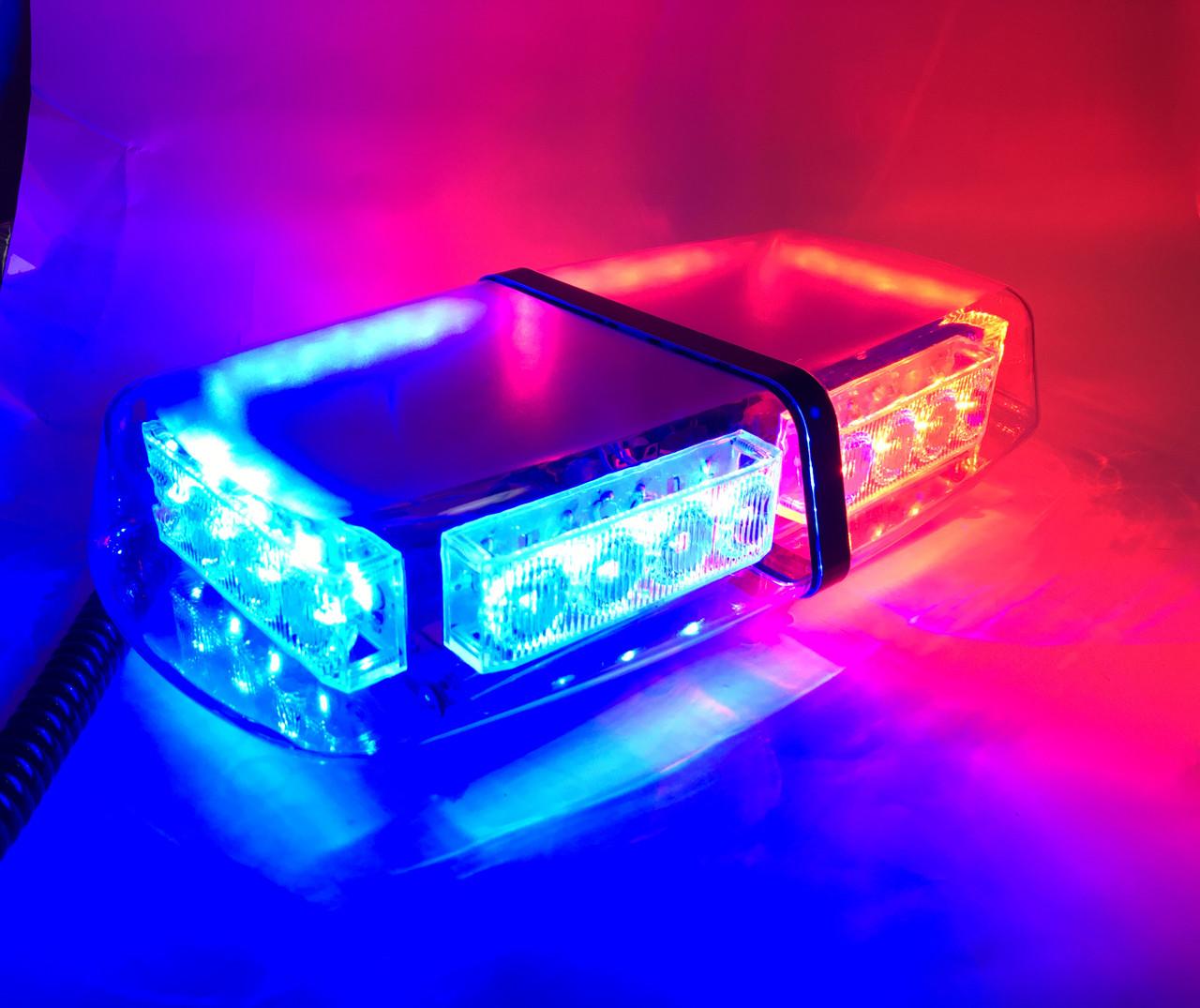 Проблесковый маячок/мини-балка LED-650 красно-синий
