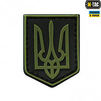 Нашивка герб Украины ПВХ олива