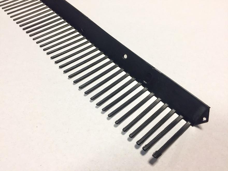 Гребень свеса плоский WA-BIS 60 х 1000 мм Черный (0922)